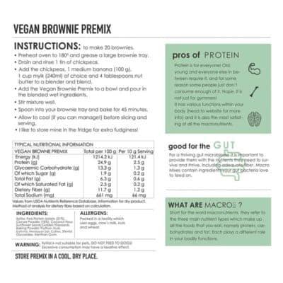 Vegan Protein Brownie